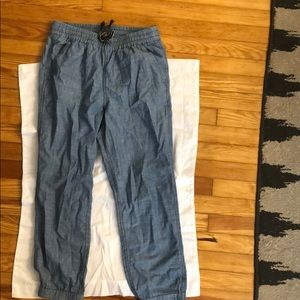 J Crew Point Sur Chambray Pants
